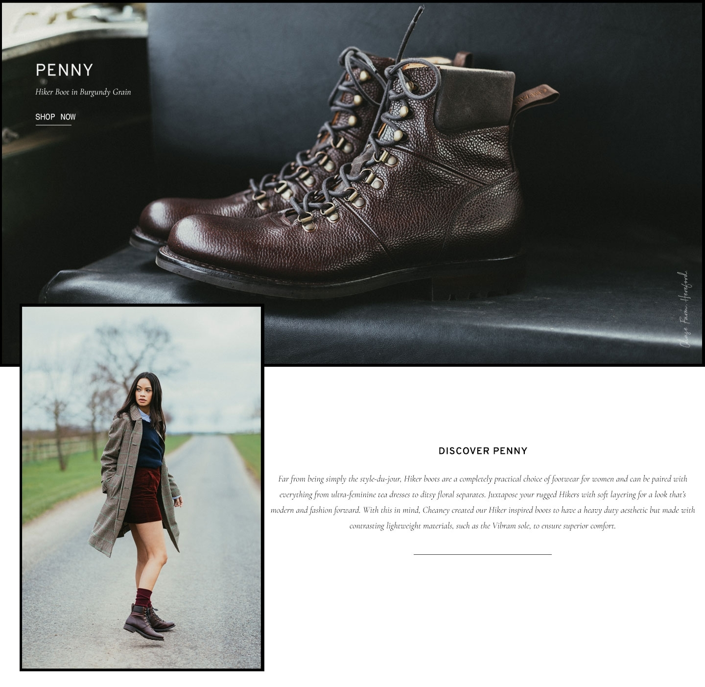 Penny Hiker Boot in Burgundy Grain Leather | Shop Now