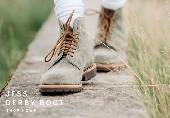 Jess Derby Boot In Waxy Green Suede