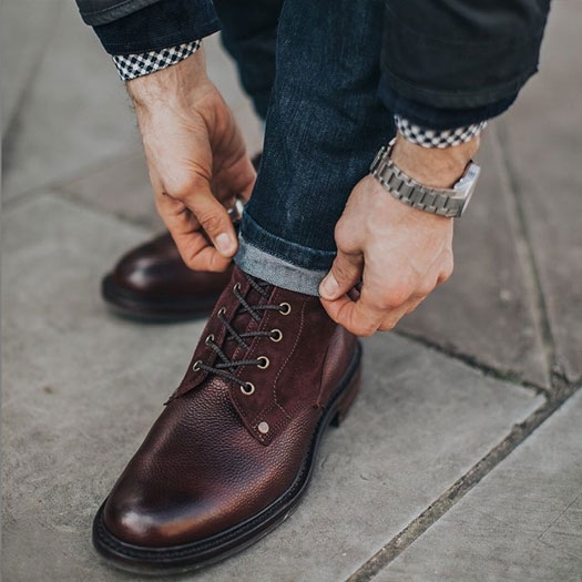 Scott Furlined Boot in Burgundy by @charlieirons