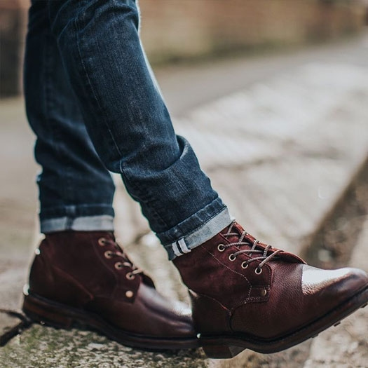 Scott Fur Lined Boot in Burgundy Grain by @charlieirons