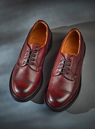 Kisdon II R Derby Shoe in Burgundy Grain