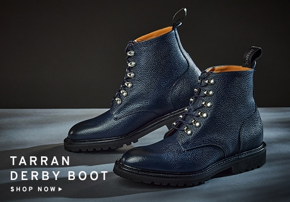 Tarran GV Derby Boot in Navy Grain | Shop Now
