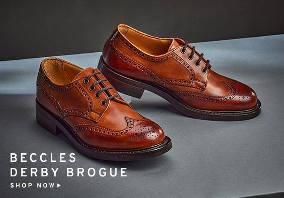Beccles R Derby Brogue in Dark Leaf | Shop Now