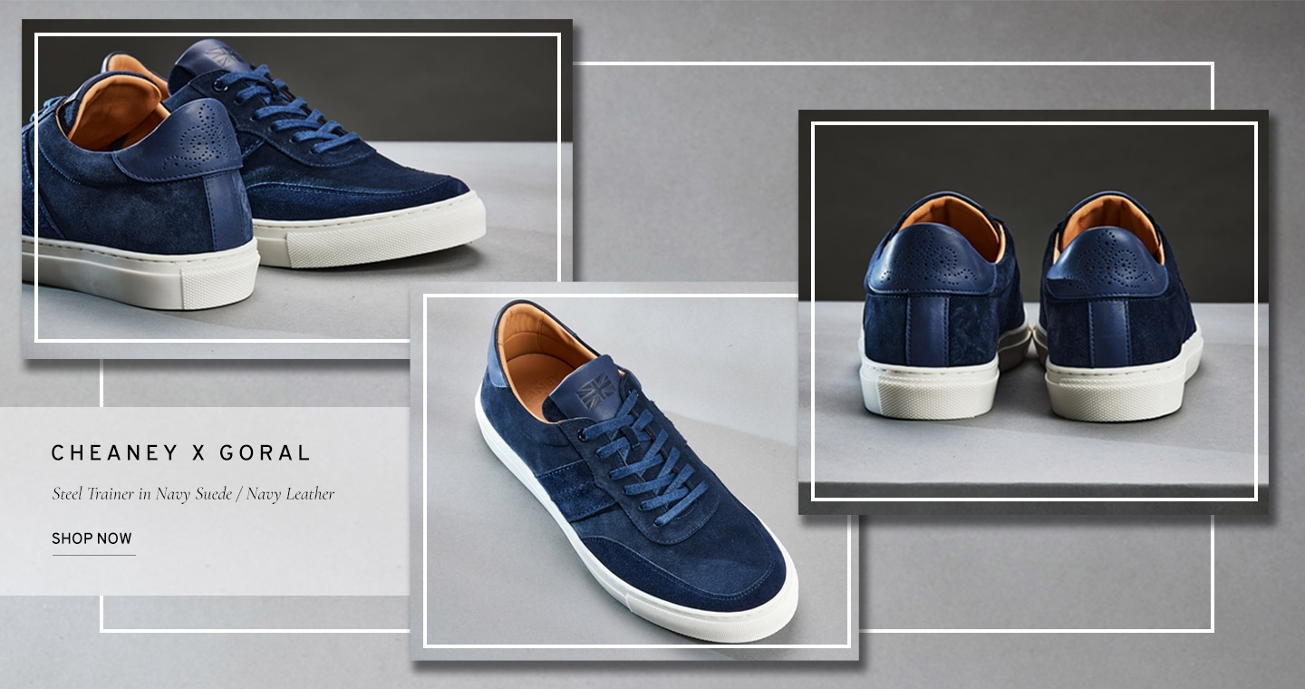 Steel Trainer in Navy Suede/Navy Leather   Shop Now