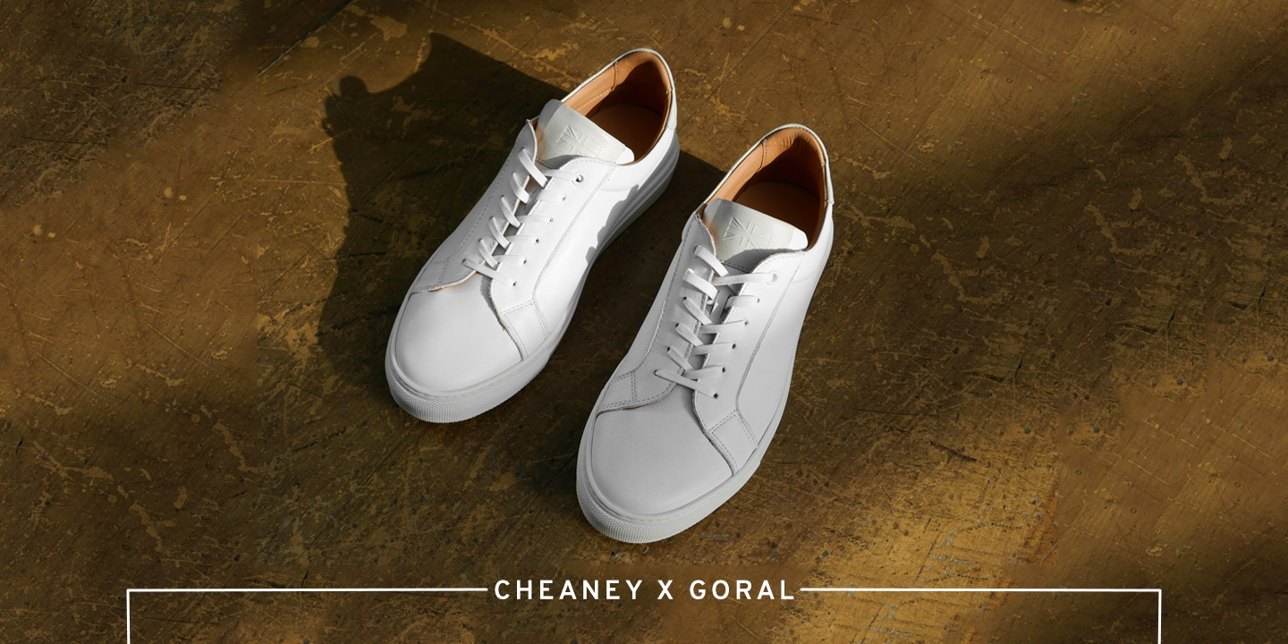 Kelham Unisex Trainer in White/Off White Leather | Shop Now