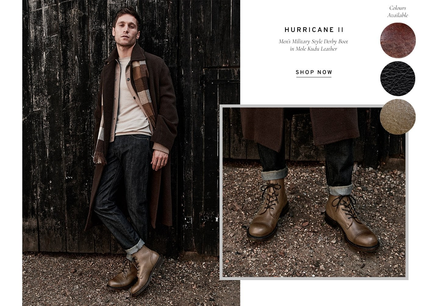 Hurricane II Men's Military Style Derby Boots