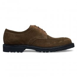 Newton GV Derby Shoe in Rock Suede