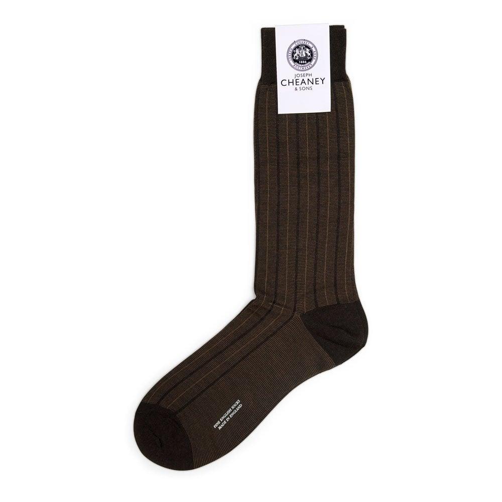 Pantherella Mens 1 Pair Traditional Pinstripe Merino Wool Socks
