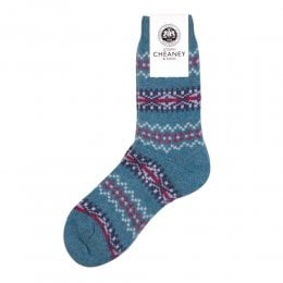 Francesca Loch Marl Cashmere Fairisle Band Womens Socks