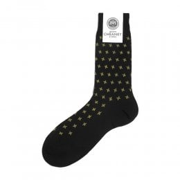 Hanson Black Houndstooth Mens Socks