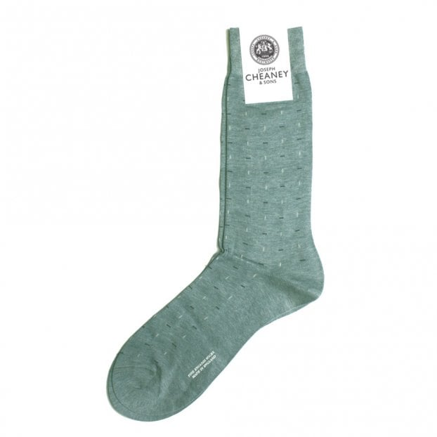 Pantherella Moulton Light Denim Mix Mens Line Stitch Socks